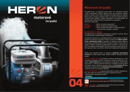 HERON - Motorové čerpadlá