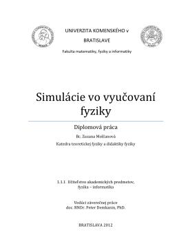 diplomovka-final - Univerzita Komenského