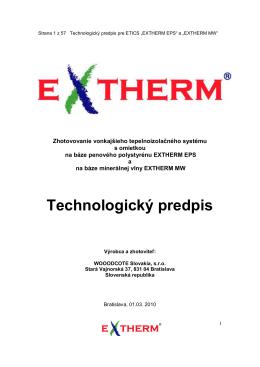 Extherm - technologický predpis