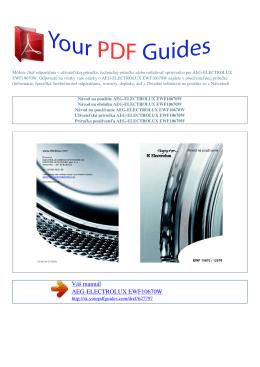EWF10670W - Príručka používateľa