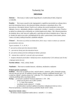 Drevosan – Technický list