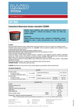Škárovacie hmoty GF BIO (pdf, 262 kB)