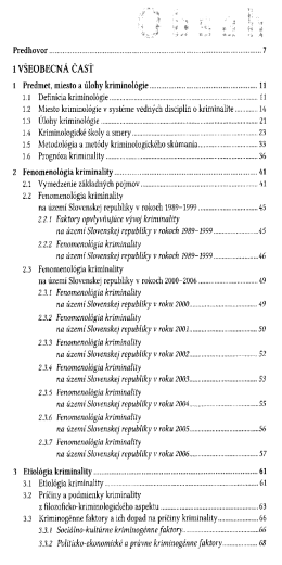 Kriminologia / Gustav Dianiska a kolektiv