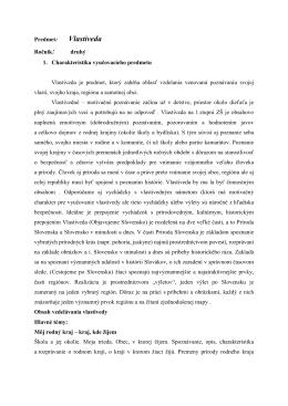 Vlastiveda - ZŠ Hroncova 23