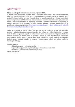 Súhlas na pripojenie bytového elektromeru, zvýšenie MRK