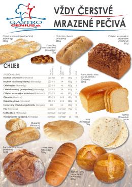 Vždy čerstVé mrazené pečiVá Chlieb - Matusz-Vad