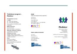 Mediátor - Mediácia - mimosúdne riešenie sporov