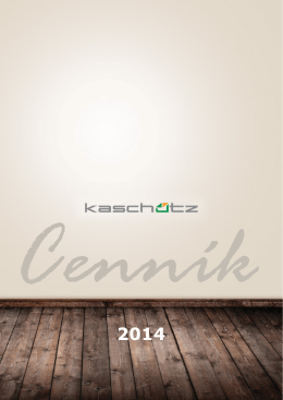 Cenník KASCHÜTZ - súbor pdf