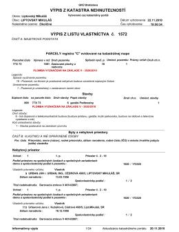 List vlastníctva - Garáže