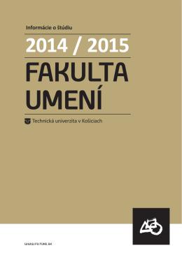 Akademický rok 2014/2015 - Fakulta umení