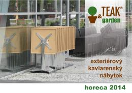 horeca 2014 exteriérový kaviarenský nábytok