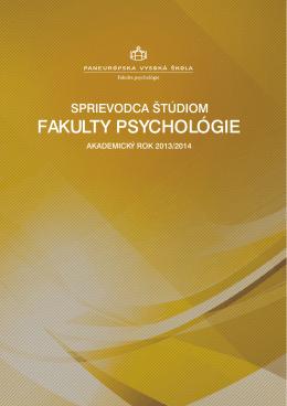 FAKULTY PSYCHOLÓGIE - Paneurópska vysoká škola