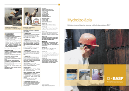 Hydroizolácie - STAVOMAT, sro, Košice