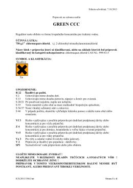 Etiketa prípravku GREEN CCC (PDF)