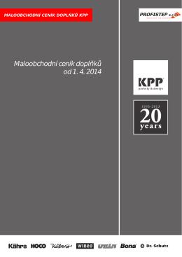 Maloobchodní ceník doplňků od 1. 4. 2014