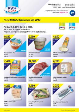 Akcia Retaila Gastrona jún 2013