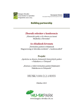 Zborník referátov z konferencie - HU