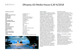 Dlhopisy JOJ Media House 6,30 %/2018
