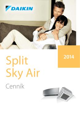 Daikin cenník Split 2014