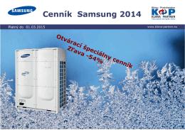 Cenník Samsung 2014