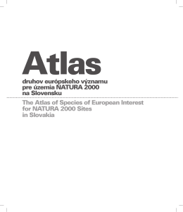 The Atlas of Species of European Interest for NATURA 2000 Sites in