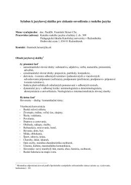Ruský jazyk - Pedagogická fakulta KU