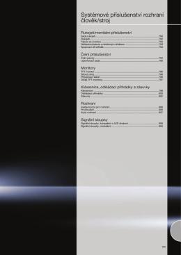 Systémové příslušenství rozhraní člověk/stroj