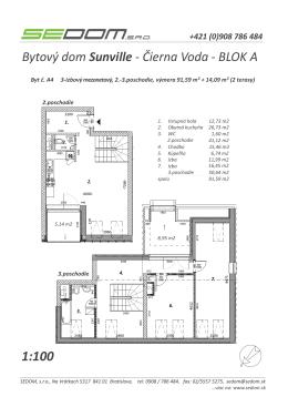 Bytový dom Sunville - Čierna Voda - BLOK A