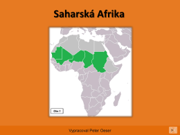 Saharská Afrika