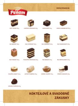 Katalóg cukrárskych výrobkov