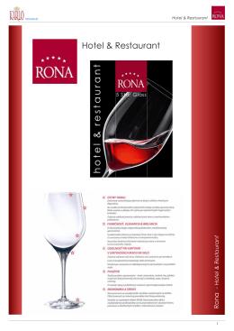 RONA Hotel & Restaurant (gastro sklo)