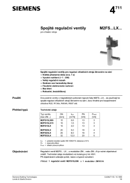 4711 Spojité regulaţní ventily M2FS...LX