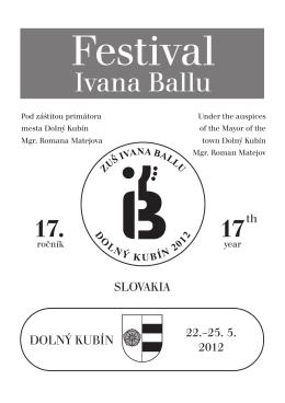 Festival - Základná umelecká škola Ivana Ballu
