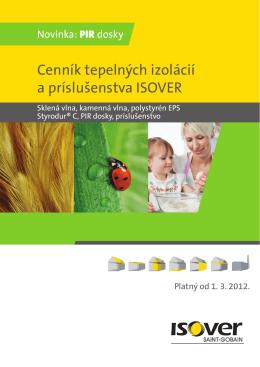 cenník isover.pdf - HIROPRO sro