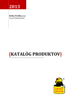 Katalóg Produktov