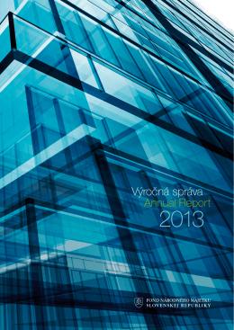 Výročná správa - rok 2013.pdf - Fond národného majetku SR