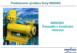 NIKKISO Canned Motor Pumps