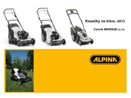 ALPINA - Kosačky na trávu -2013