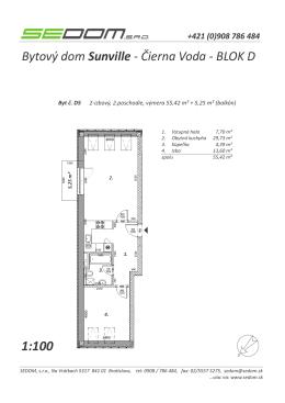 Bytový dom Sunville - Čierna Voda - BLOK D