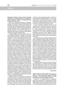 244 KRoNIKA - Akademie věd ČR
