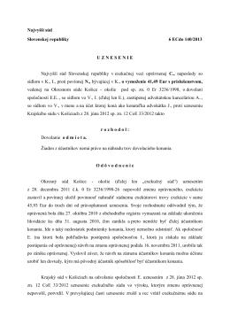 Najvyšší súd Slovenskej republiky 6 ECdo 140