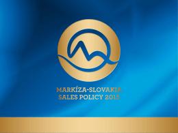 Markíza-Slovakia SaleS Policy 2015
