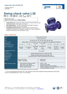 Swing check valve L30