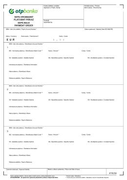 sepa hromadný platobný príkaz / sepa bulk payment order