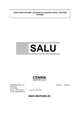 SALU posuvné kovanie - Dextrade Žilina, sro