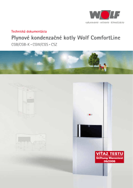 Plynové kondenzačné kotly Wolf ComfortLine