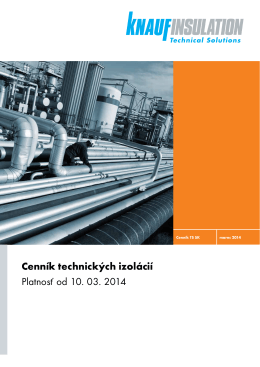 Cenník Knauf Insulation – Technické izolácie od