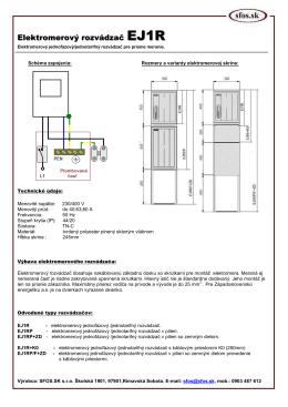 Elektromerový rozvádzač