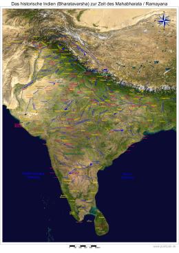 dieses GeoPDF des Bharatavarsha - Das Mahabharata