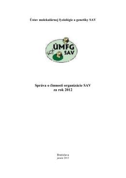 2012 - UMFG SAV - Slovenská Akadémia Vied